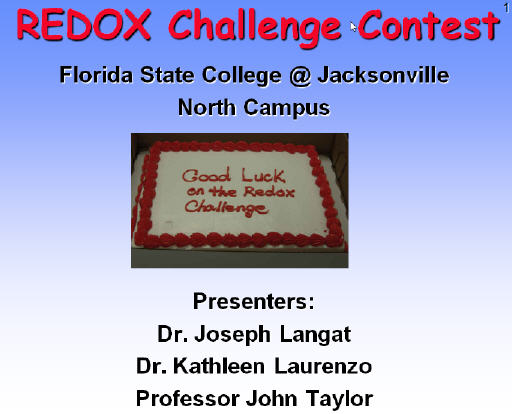 REDOX Challenge Contest