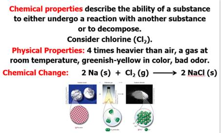 Chapter 3 Part A: Chemical & Physical Properties